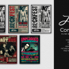 Live Band Flyer Bundle V4