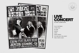 Live Concert Flyer Template V3