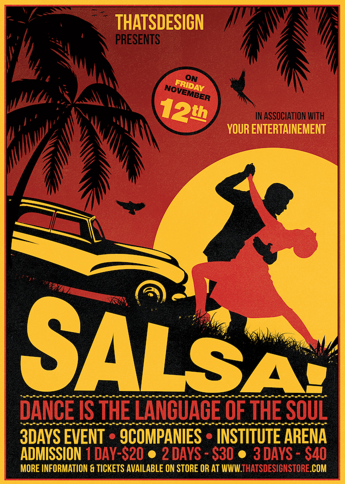 Salsa Flyer template psd to download