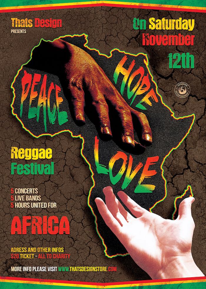 Reggae Africa United Flyer Template