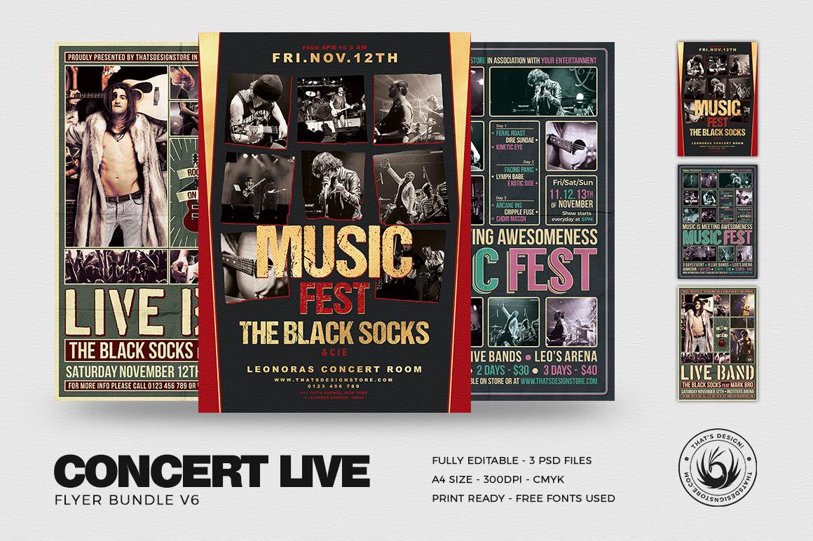 Concert Flyer Psd Templates BundleV6