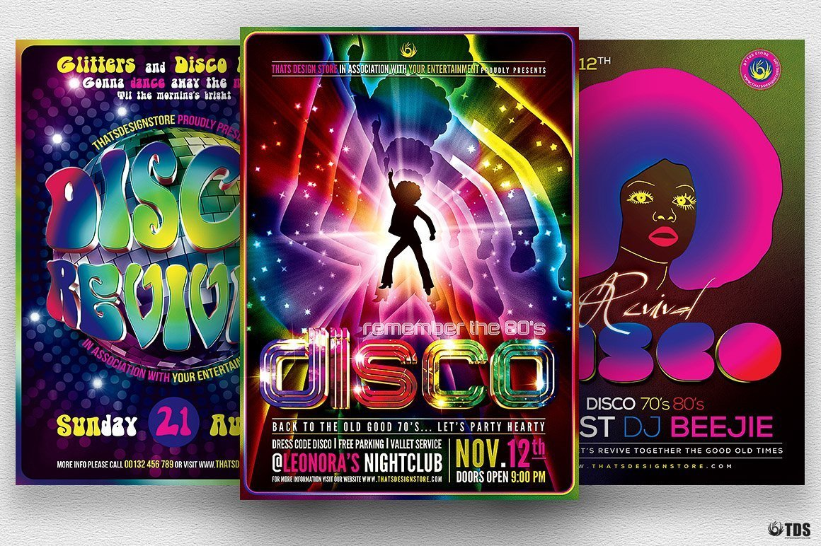 disco flyer psd templates design for photoshop v 2