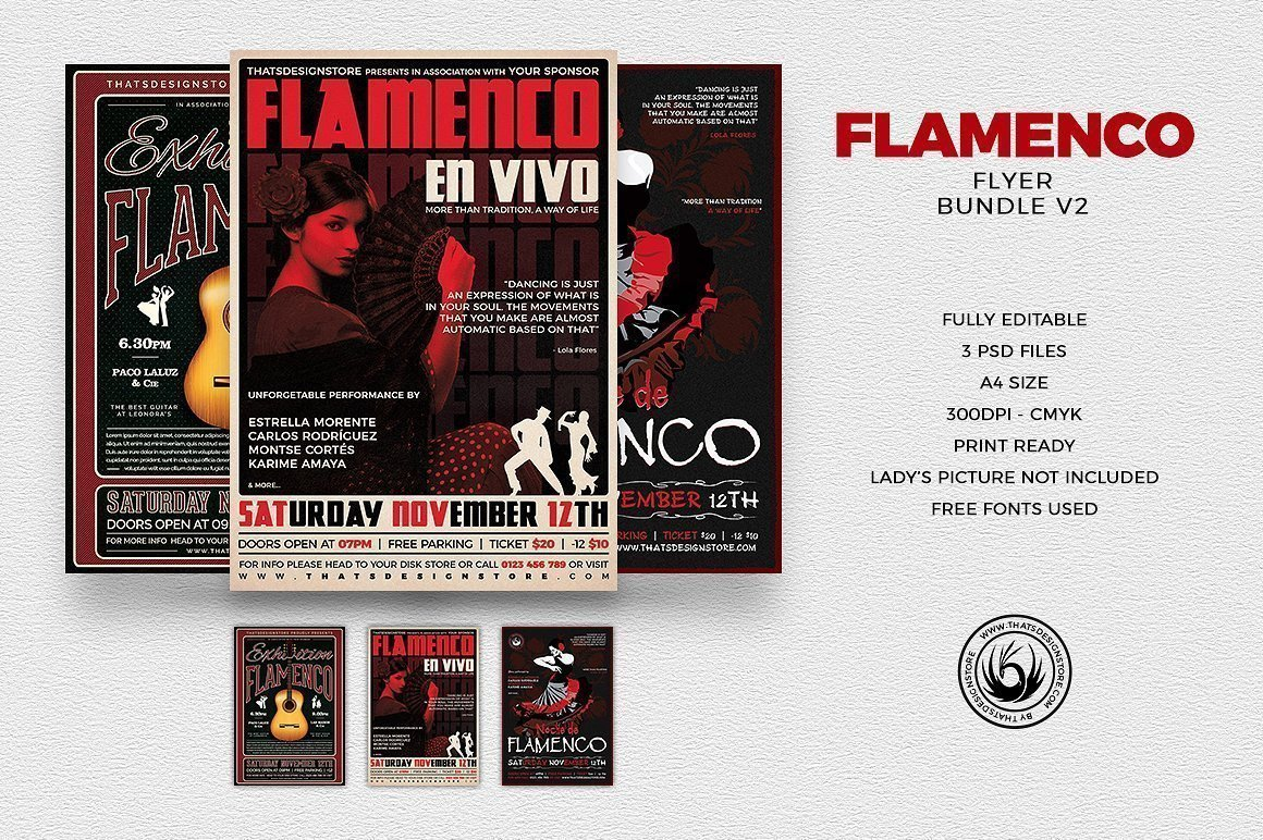 Flamenco Flyer Bundle V2