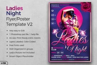 Ladies Night Flyer Design Template V2