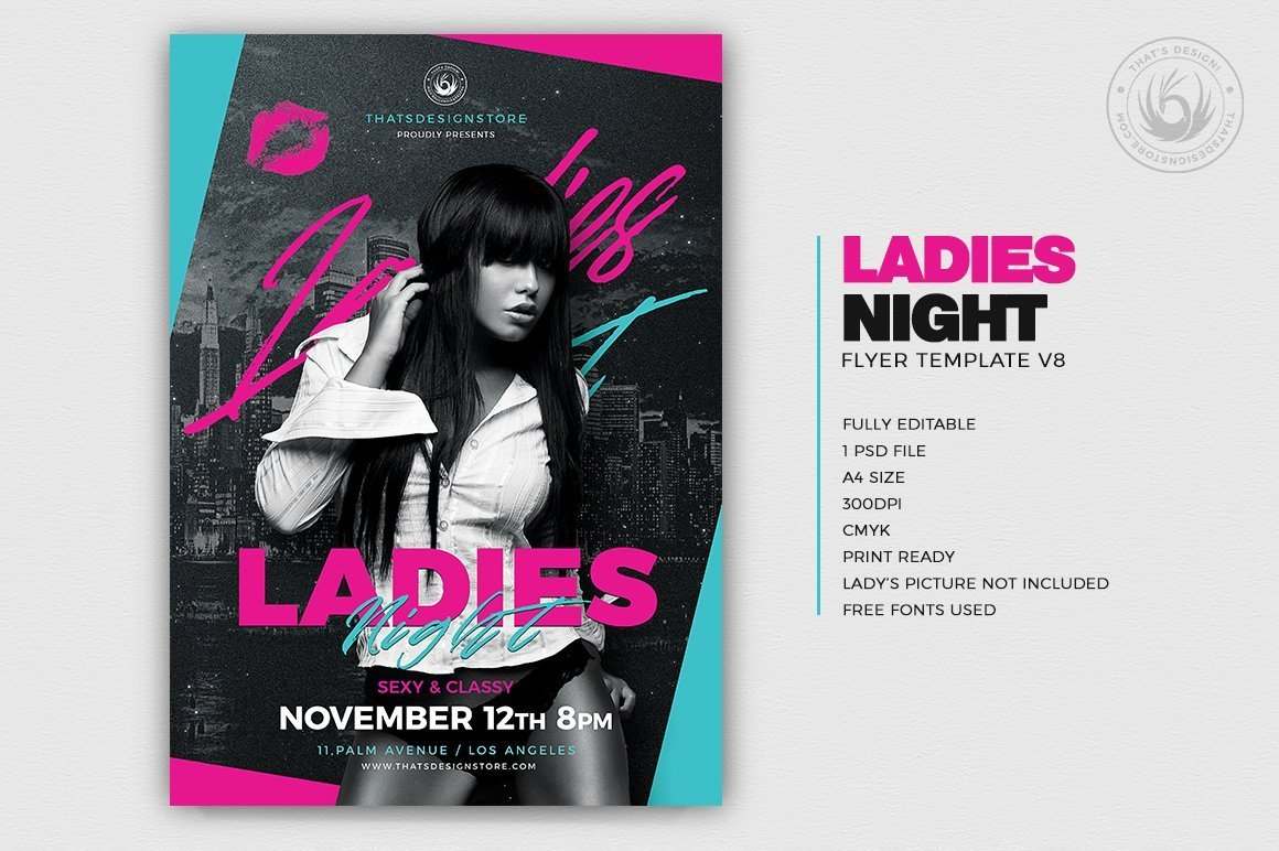 Ladies Night Flyer Template V8