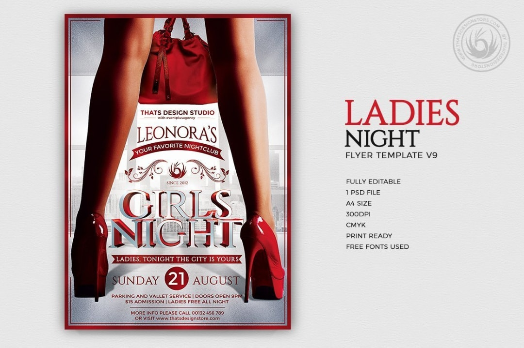 Ladies Night Flyer Template V9