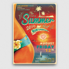 Summer Fest Flyer Template V4 for any beach party,festival, club or cocktails bar event. Pool or garden party with Dj set mixing chillout, lounge music for a tropical sunset, summer camp holidays