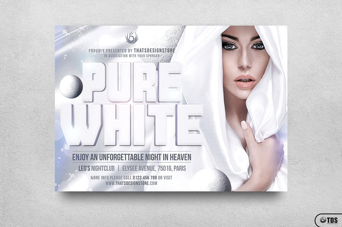 white party flyer template v3 thats design store
