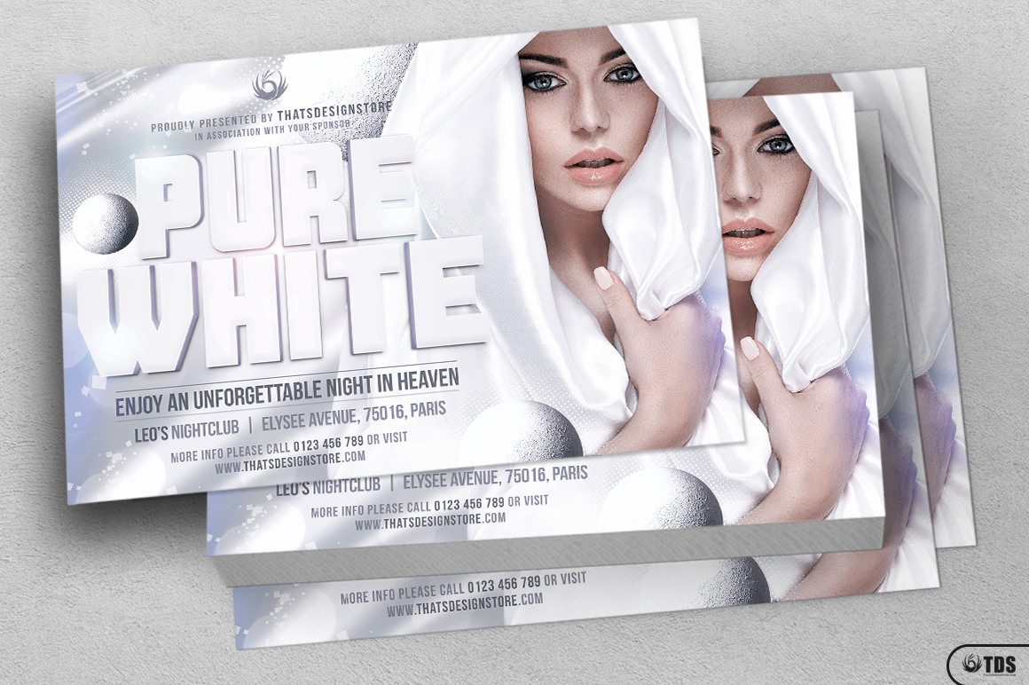 white party flyer template v3