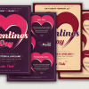 Valentine's Day Flyer + Menu Bundle V9 love Psd download to customize with photoshop