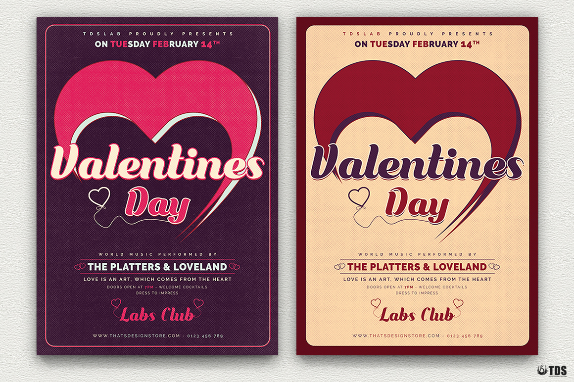 valentine s day flyer template v9 thats design store