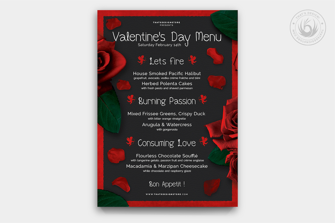 valentine u0026 39 s day menu template v2