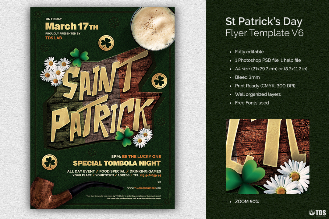 Saint Patricks Day Flyer Template V6