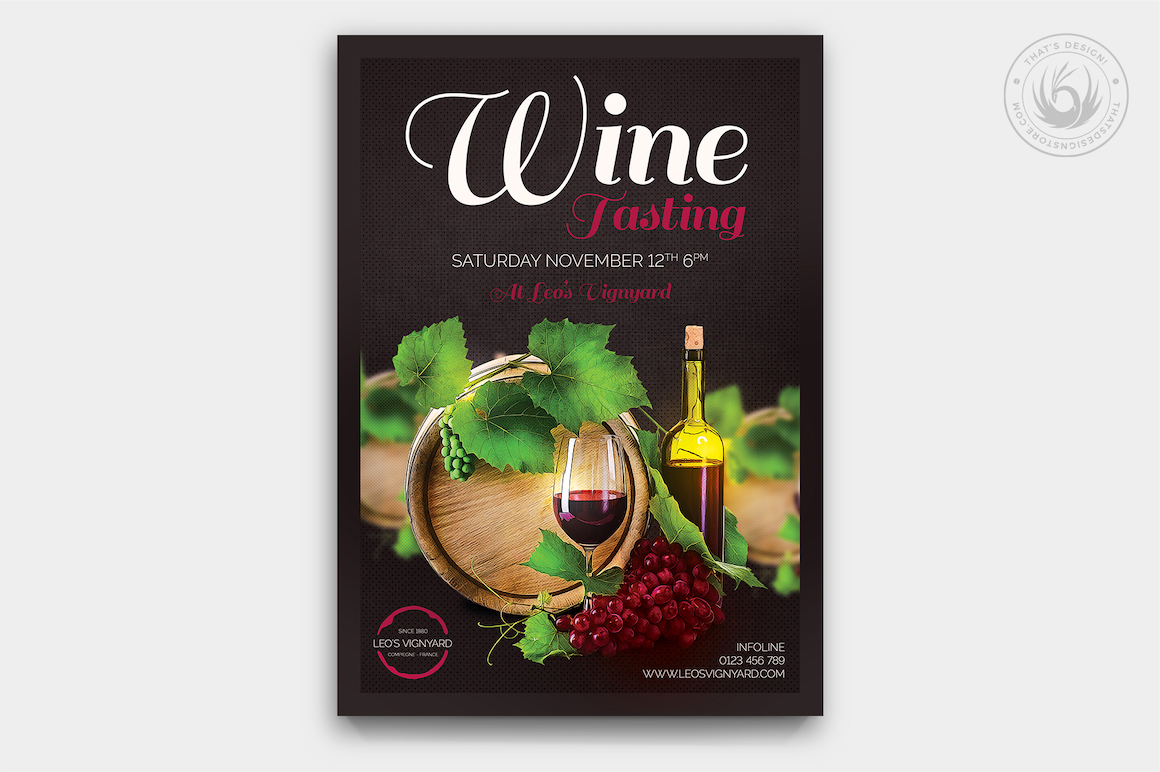 Wine tasting flyer template psd design for photoshop wine tasting flyer template maxwellsz