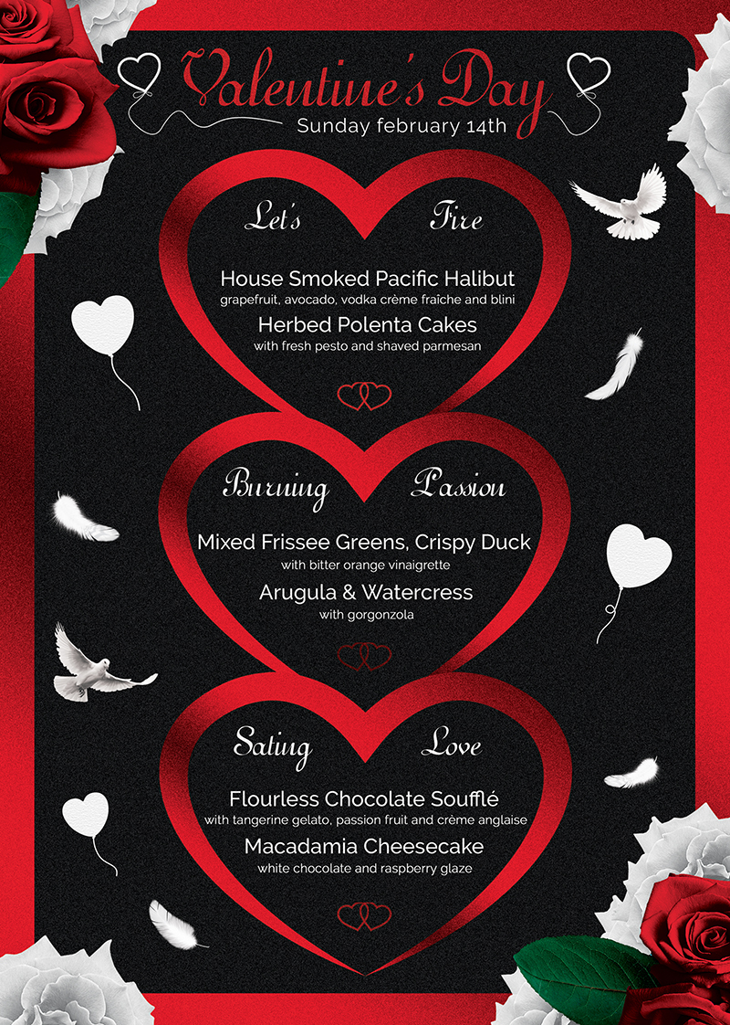 Valentine's Day Menu Template V4