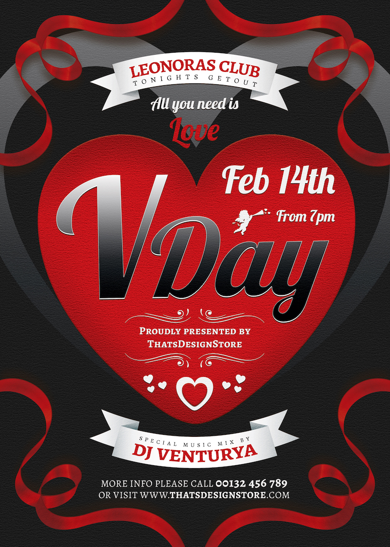 Valentine's Day Flyer Template V8
