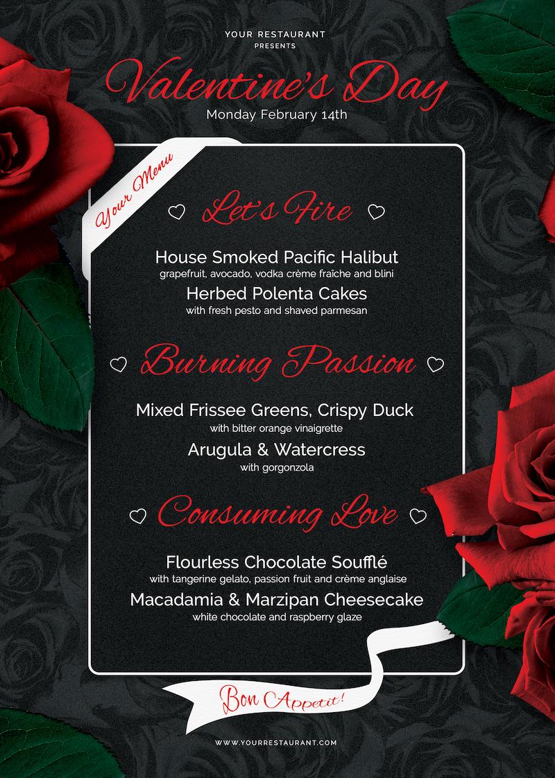 valentine u2019s day flyer   menu v3