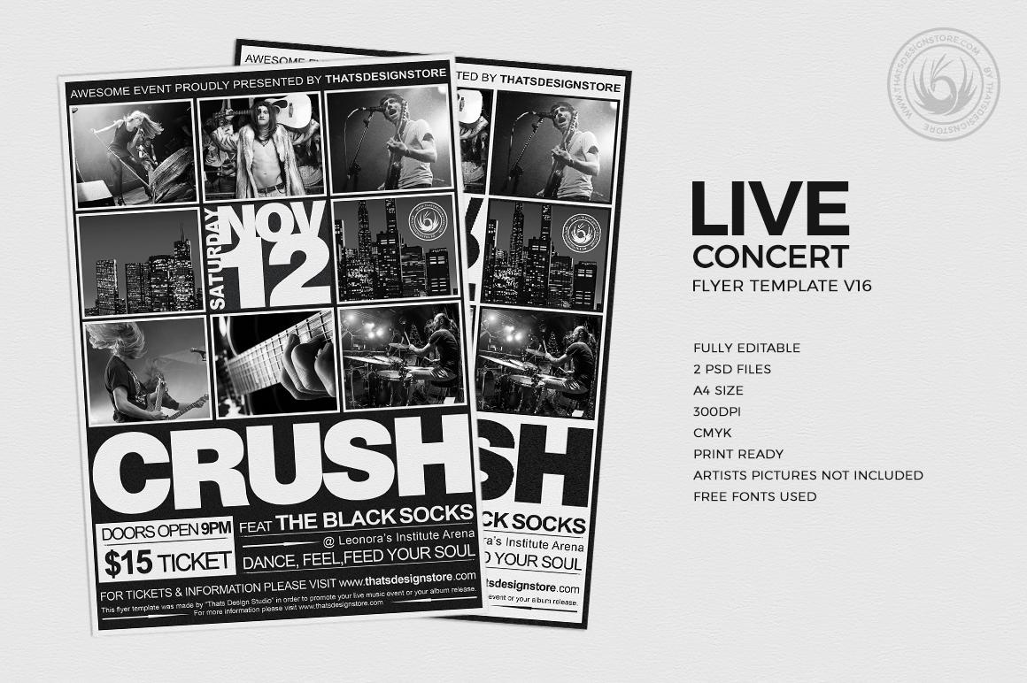 Live concert flyer template v16 thats design store live concert flyer template v16 maxwellsz