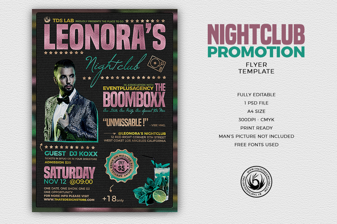 nightclub promotion flyer template thats design store
