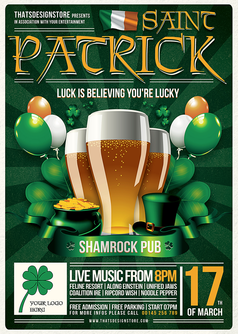 St Patricks Day Flyer Template V2