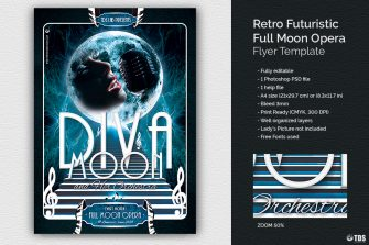 Full Moon Opera Flyer Template