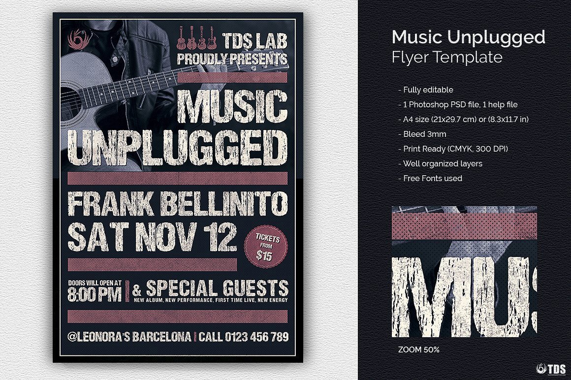 Music Unplugged Flyer Template Thats Design Store