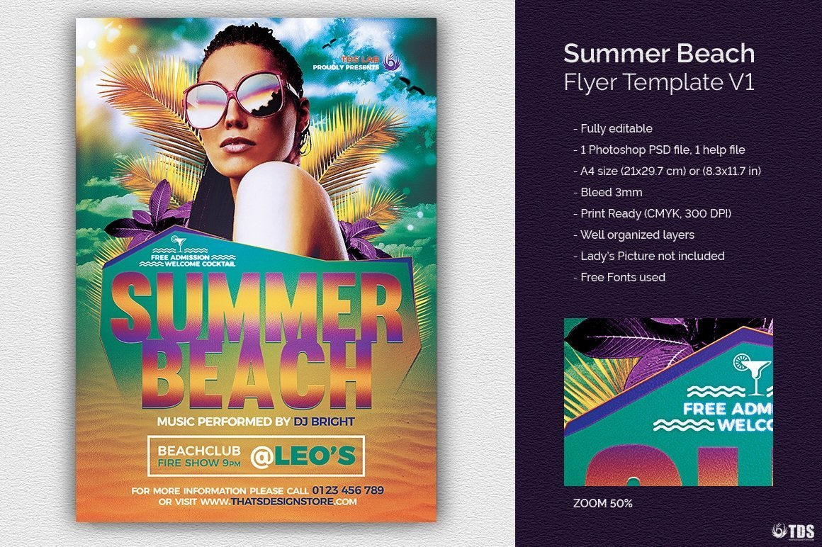 summer beach flyer template thats design store