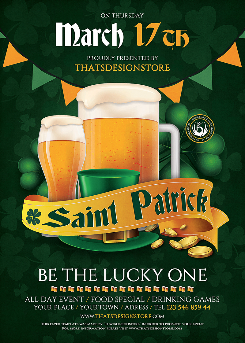 Saint Patrick Flyer Template V5