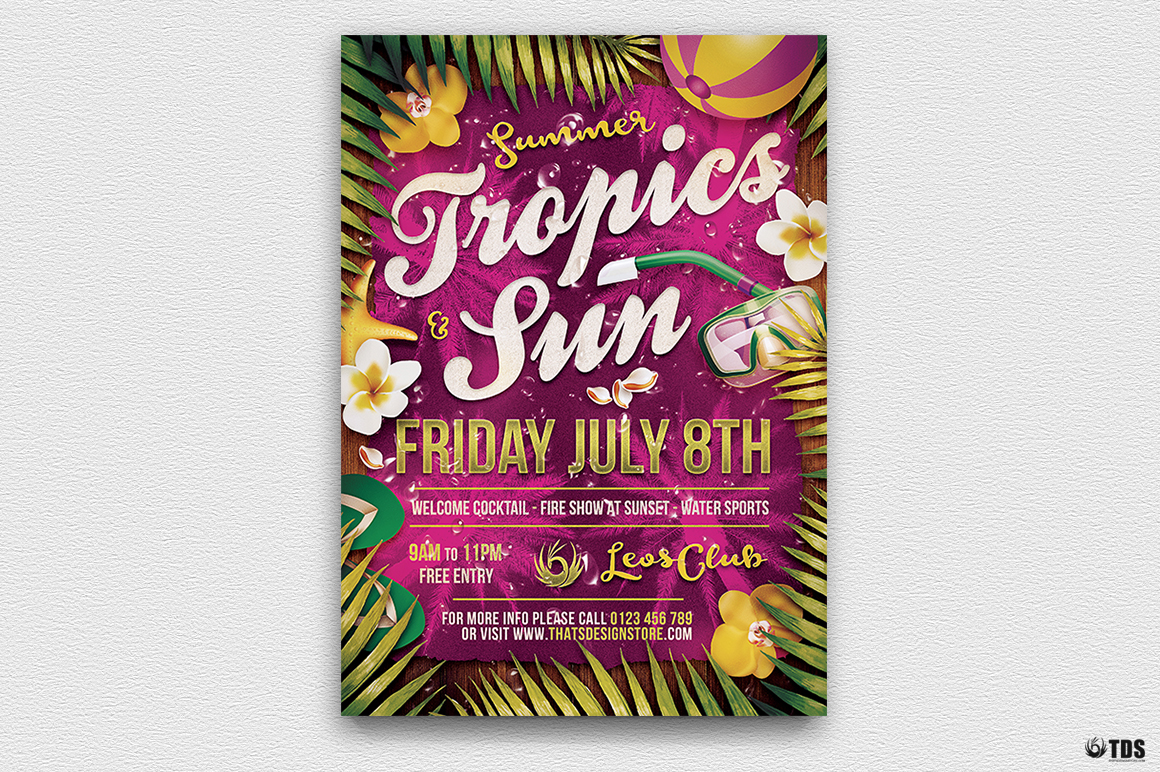 Summer Tropics Flyer Template
