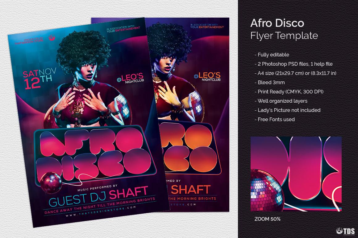 AfroDisco Flyer Template