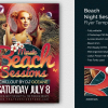 Beach Night Sessions Flyer Template, Summer psd templates