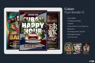 Cuban salsa Psd flyer templates
