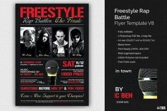 Freestyle Rap Battle Flyer Template V8