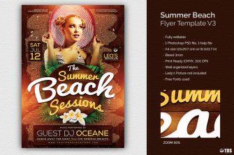 Summer Beach Flyer Template V3