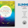 Summer Sunset Flyer Template, Beach party psd flyers