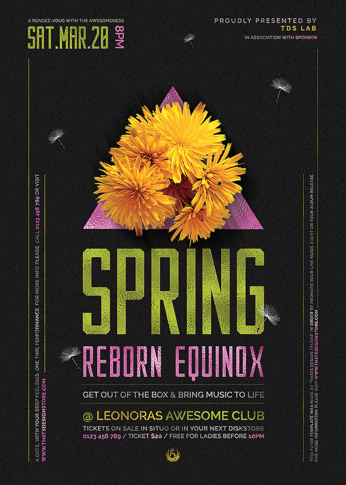 Spring Equinox Flyer Template V6