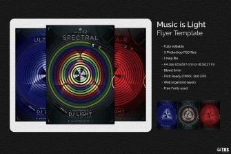 Music is Light Flyer Template