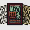 Jazzy Fest Flyer Template psd download V3