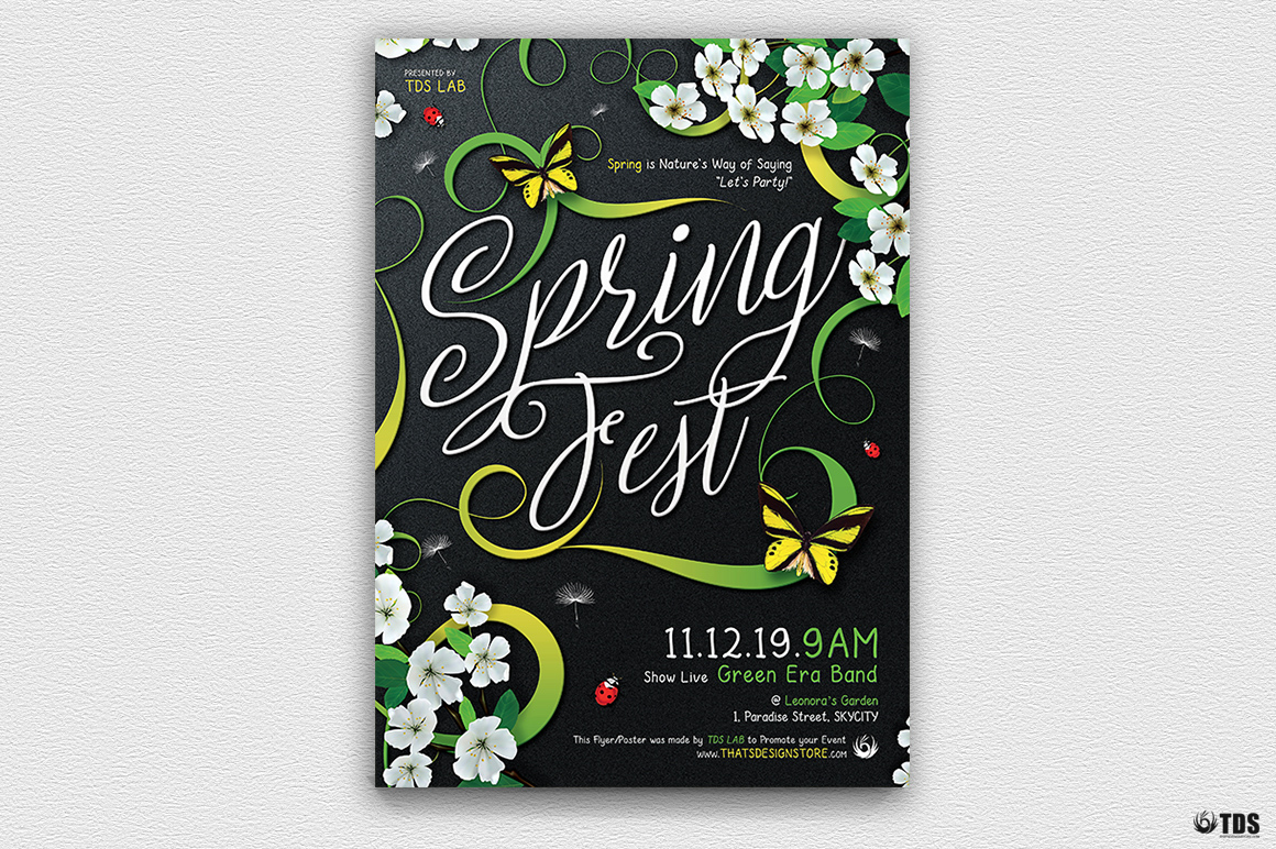 Spring Party Flyer Psd Templates, Spring Fest Flyer Template