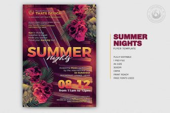 Summer Nights Flyer Template