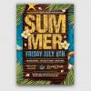 Summertime Flyer Template V3, Beach flyer psd templates