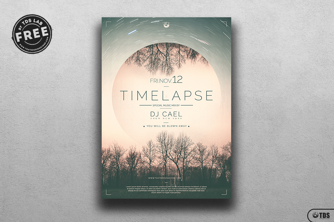 Free Time Lapse Flyer Template
