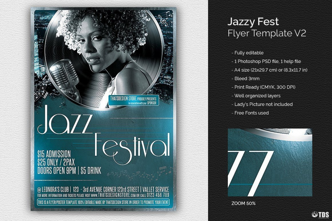 Jazzy Fest Flyer Template V2
