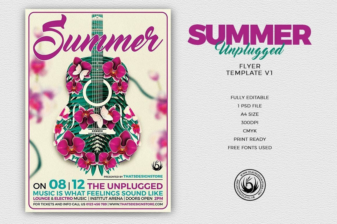 Summer Unplugged Flyer Template V1