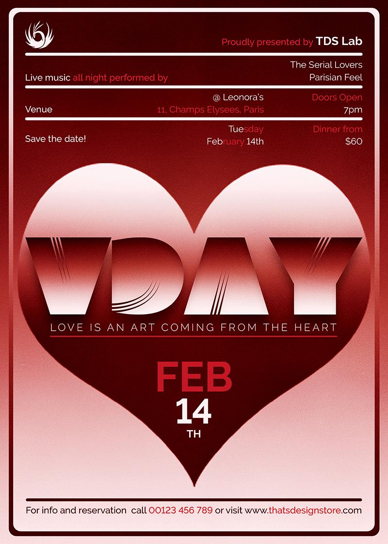 Valentine's Day Flyer Template V11