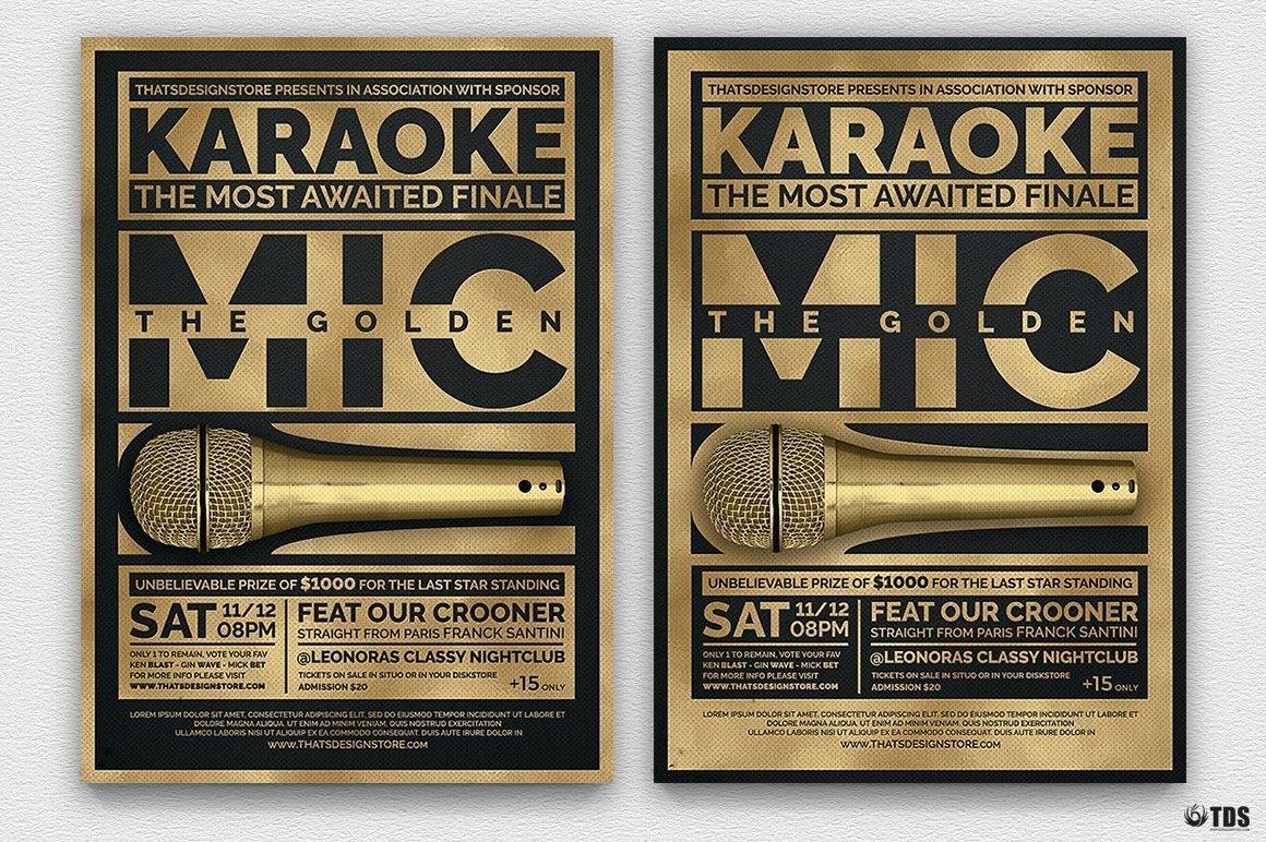 Karaoke Flyer Template V5