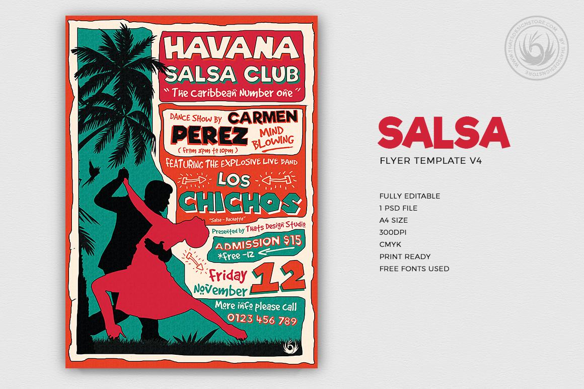Salsa Flyer Template V4