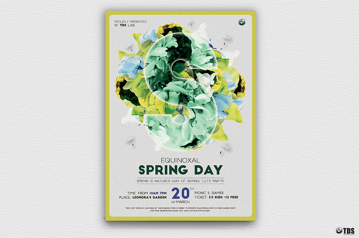 Spring Party Flyer Psd Templates, Spring Day Flyer Template