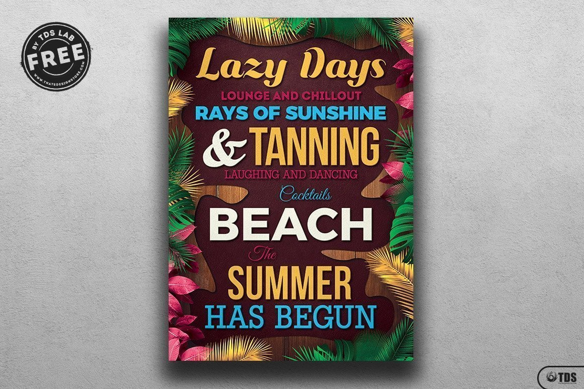 Superieur Free Summer Quotes Flyer Template