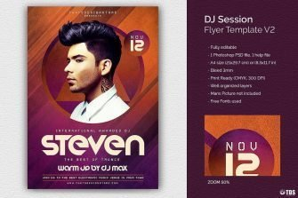 Dj Session Flyer Template psd download V2
